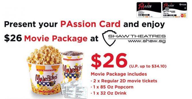 仅26新的双人电影套餐~外加爆米花和饮料~就在shaw电影院~