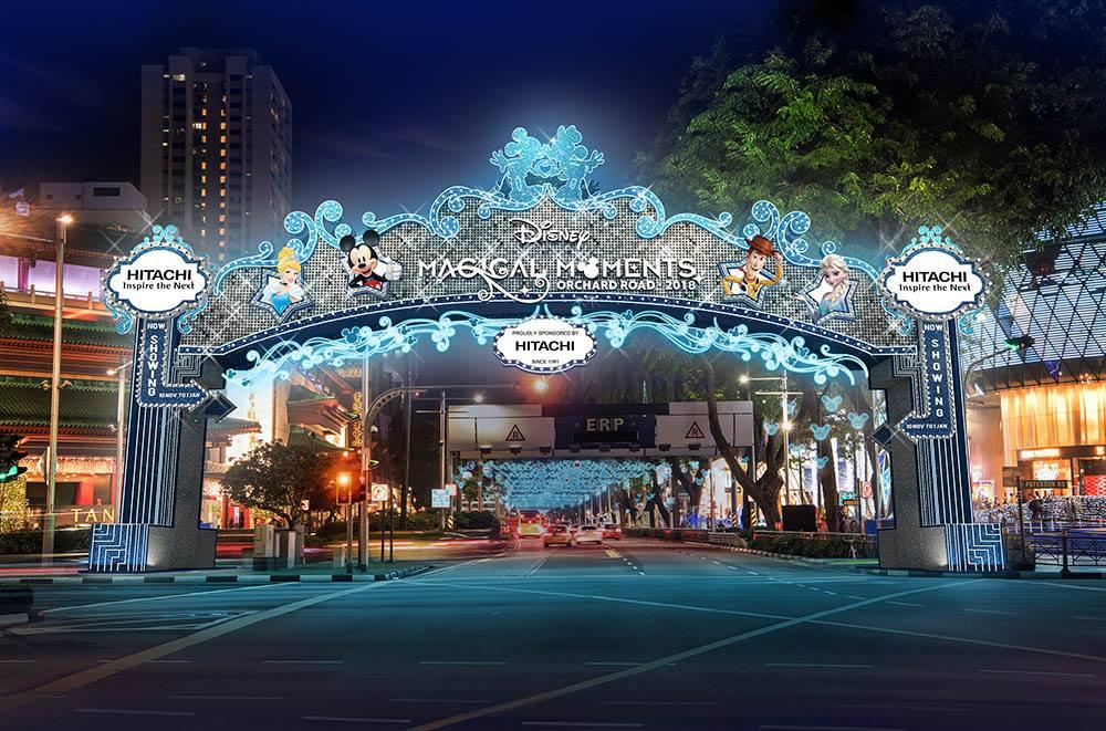 2018年迪新加坡乌节路圣诞花灯迪士尼主题-热点新加坡